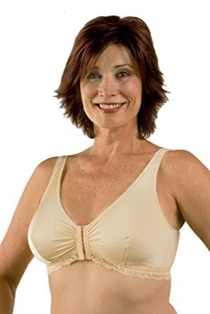 06cd6e1241 Amazon.com  Post Mastectomy Front Close Bra  Clothing