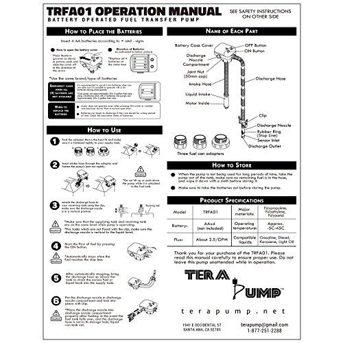 Second Gen Terapump Trfa01 No More Gas Can Lifting