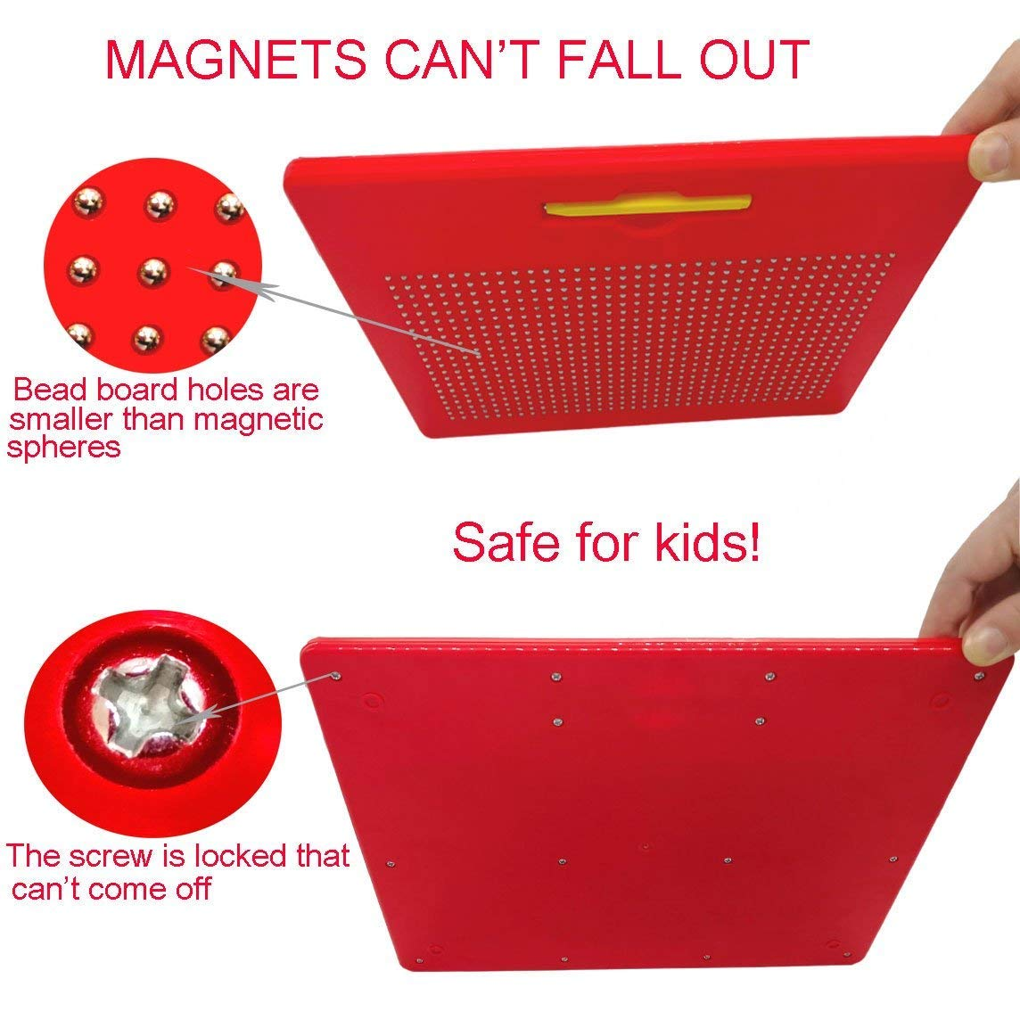 Cretee 0 to 9 Number Magnet Board for Kids Educational Toy Magnetic Balls Tablet