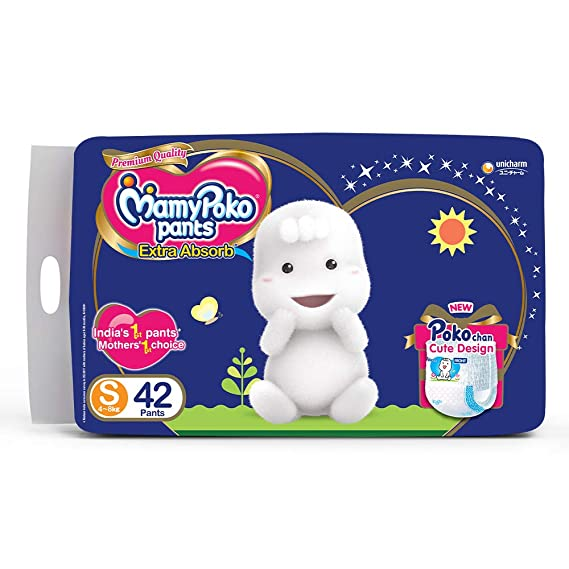 MamyPoko Pants Extra Absorb Diapers, Small (Pack of 42)