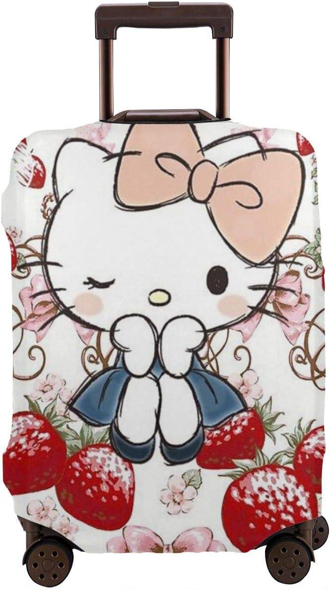 Funda para Equipaje de Viaje con diseño de Hello Kitty con Deliciosa Funda Protectora Lavable para Maleta de Fresa de 18 a 32 Pulgadas