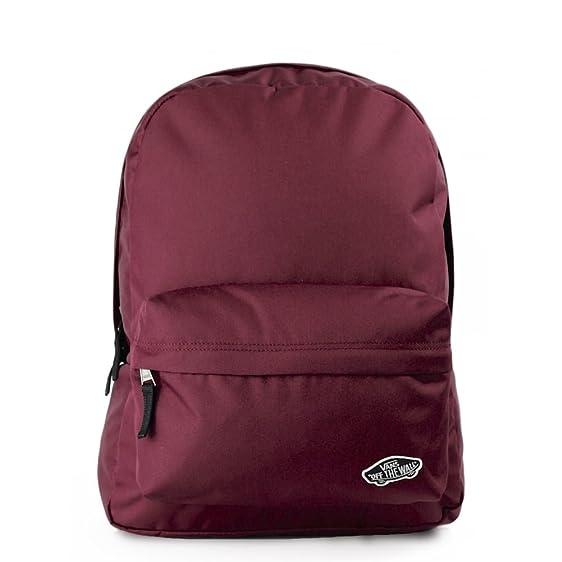 burgundy vans bag