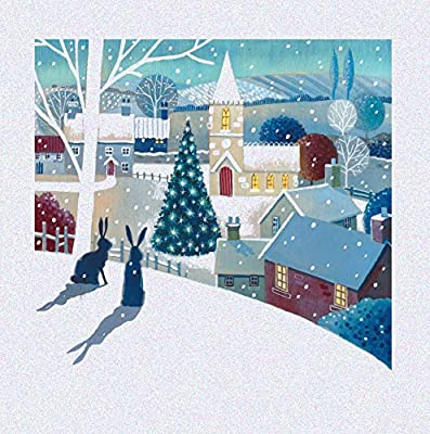 Pack of 5 Christmas Hares Traditional Christmas Cards Ling Design Festive Card Packs: Amazon.es: Oficina y papelería