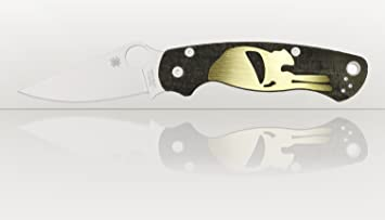 Scales for Spyderco Paramilitary 2, knife handles, Brass