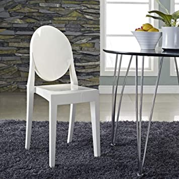 Living Room Bedroom Combo Ideas, Hcd Gigi White Philippe Starck Louis Ghost Chair White Chair Side Chair White Dining Chair Trendy Chair White Armless Chair Ghost White Armless Chair Dining Room Dining Table Desk Chair Amazon Ca Home