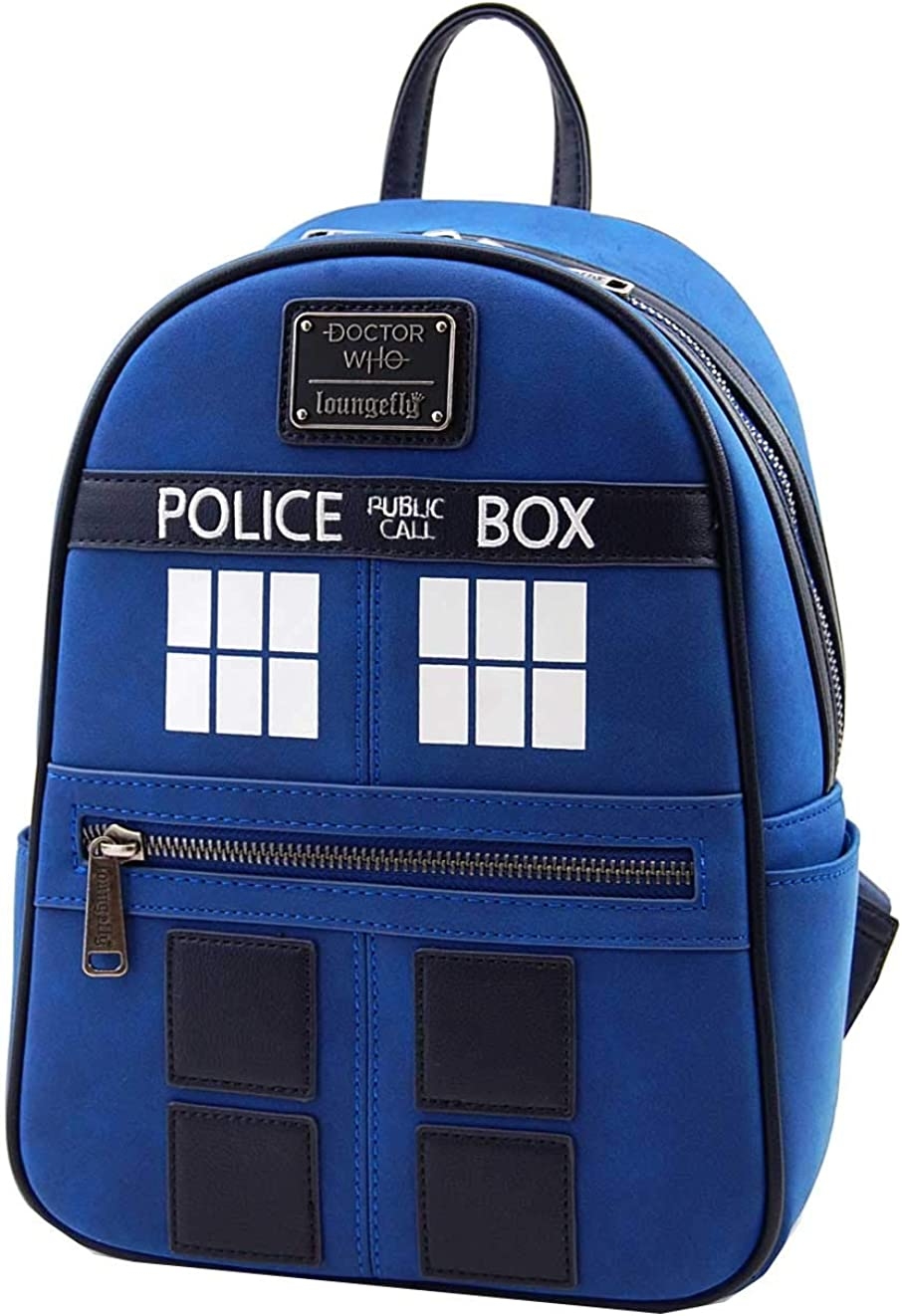 Loungefly Doctor Who Faux Leather Mini Backpack and Denim Wallet Set