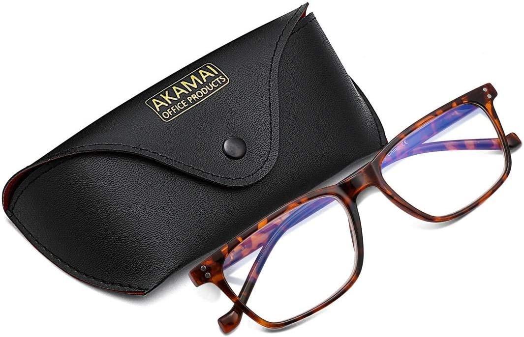 Akamai Blue Light Blocking Frames - Mens & Womens Computer Screen Bluelight Protection - Anti UV Glare - Edisto Model (+0.0, Tortoise)