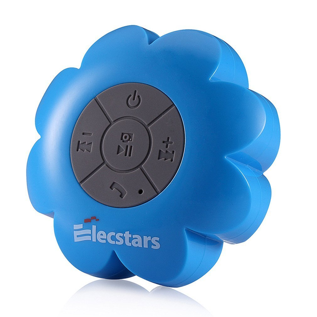Shower Speaker, Elecstars Water Resistant Bluetooth Waterproof Speaker with Wireless Handsfree Portable Speakerphone, Strong Suction Cup - Best Gift for Women Teens Kids Children Girls Boys (Blue)
