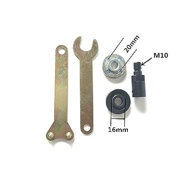 M10 Manga del eje Muelas de la rueda Placa de pulido Sierra de corte Juego de conexiš®n de la cuchilla: Amazon.es: Bricolaje y herramientas