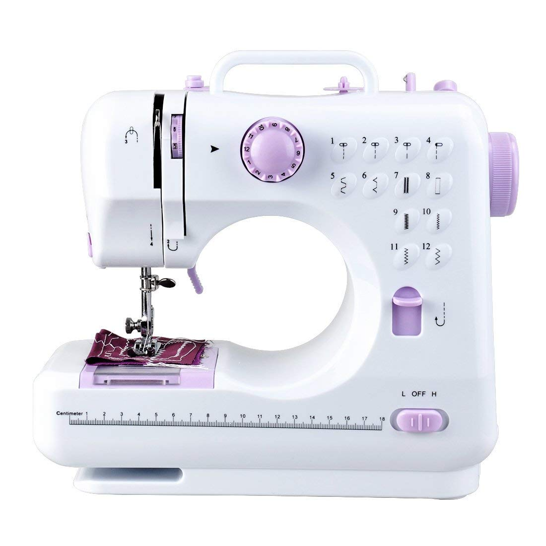 Sewing Machine with Built-In 12 Stitches Household Sewing Machine Handheld Portable with Foot Pedal 2 Speed Double Threads Yide