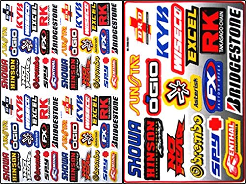X rc decals nitro gas car trucks boat racing sticker vinyl stickers for rc boats
