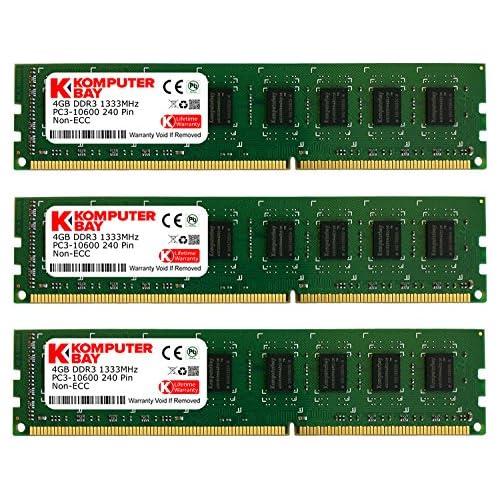 chollos oferta descuentos barato Komputerbay Módulo de Memoria RAM DDR3 1333MHz 3 Unidades 12GB 3 X 4GB