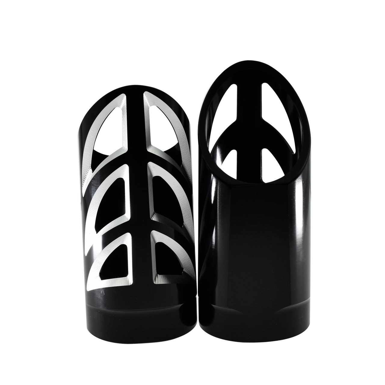 YHMTIVTU Motorcycle Fork Slider Covers CNC Upper Boot Shock Absorbers for Harley 1997-2017 Touring All Models