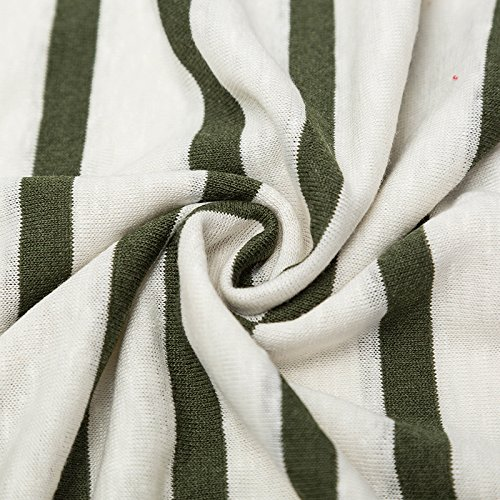 Xintianji Linen Viscose Breathable Blend Fabric Striped Pattern Sewing DIY Cloth