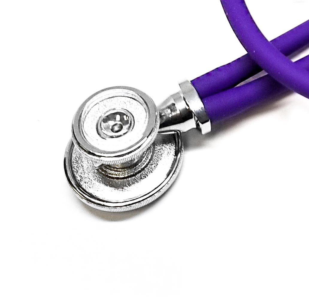 ASATechmed Nurse/EMT Starter Pack Stethoscope, Blood Pressure Monitor and Free Trauma 7.5'' EMT Shear Ideal Gift for Nurse, EMT, Medical Students, Firefighter, Police and Personal Use (Purple) by ASATechmed (Image #4)