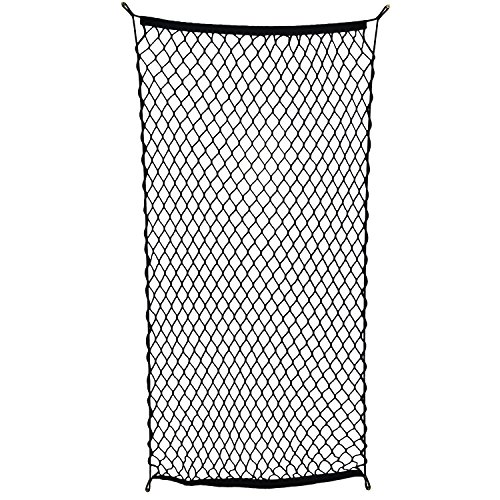 ABN Cargo Net with Fasteners and Hardware, 24 x 45in (Stretches to 60in Long) - Trailer, SUV, Motorcycle, ATV, - Dividers 60 Inch High