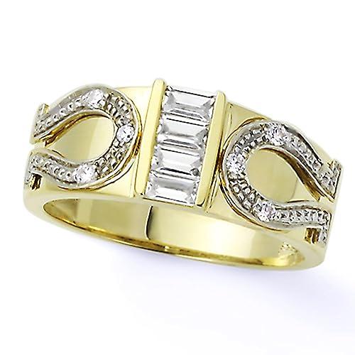 Pequeños Tesoros - Anillo de mujer - El oro dos tonos (14k) - Boda