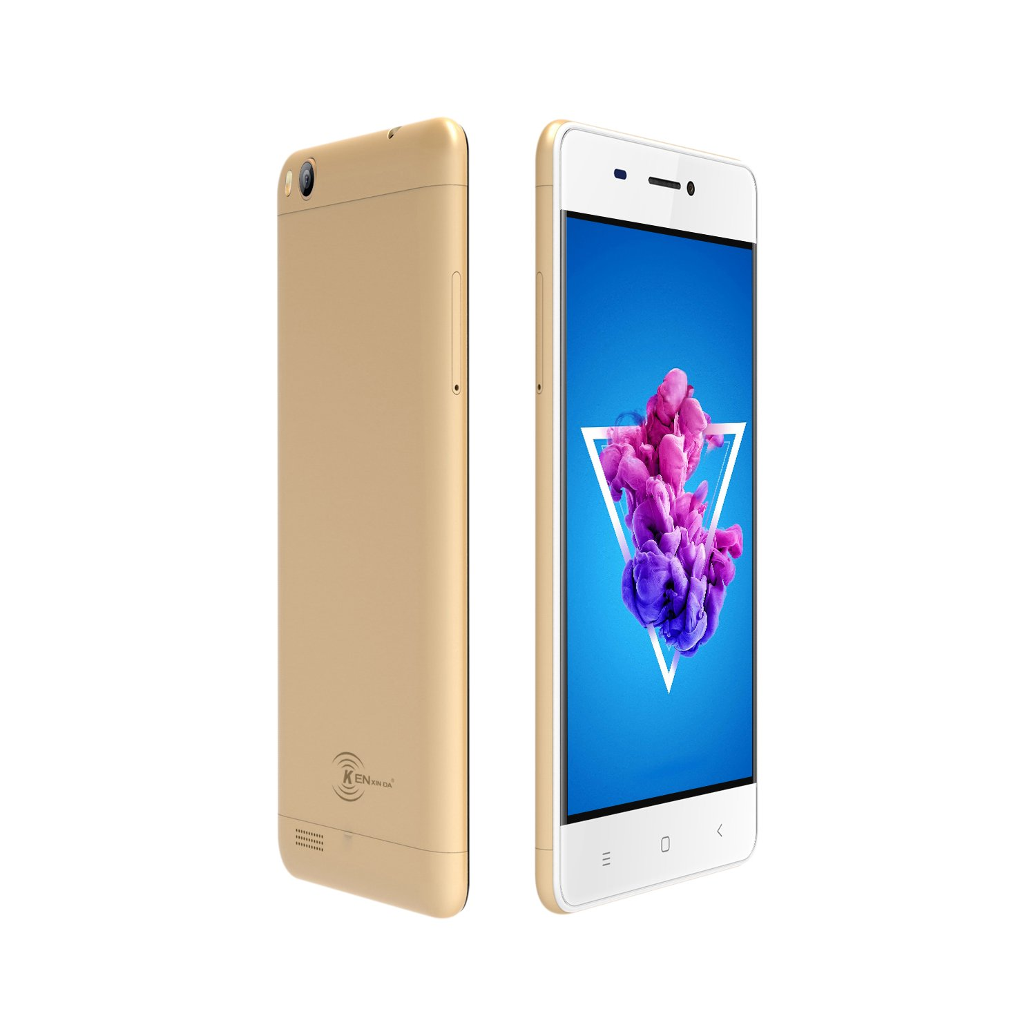 KEN XIN DA V5 3G Dual SIM Unlocked Smartphones 4.0 Inches 8GB+1GB Memory Android 7.0 Cell Phones Ultra Thin GSM Phone (Gold)