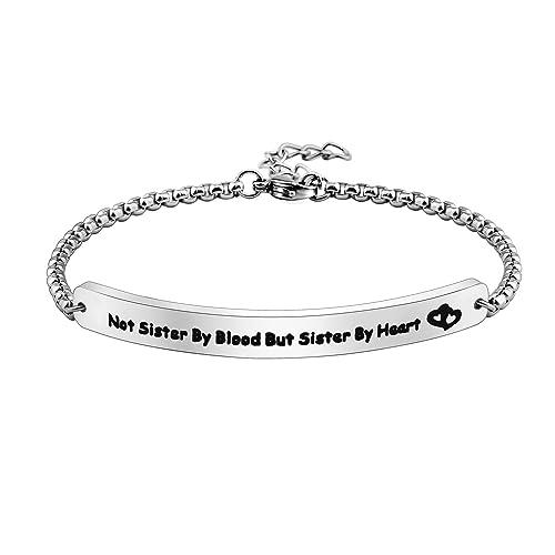 4812cd72230f0 Amazon.com: KUIYAI Best Friends Bracelets Not Sisters By Blood But ...