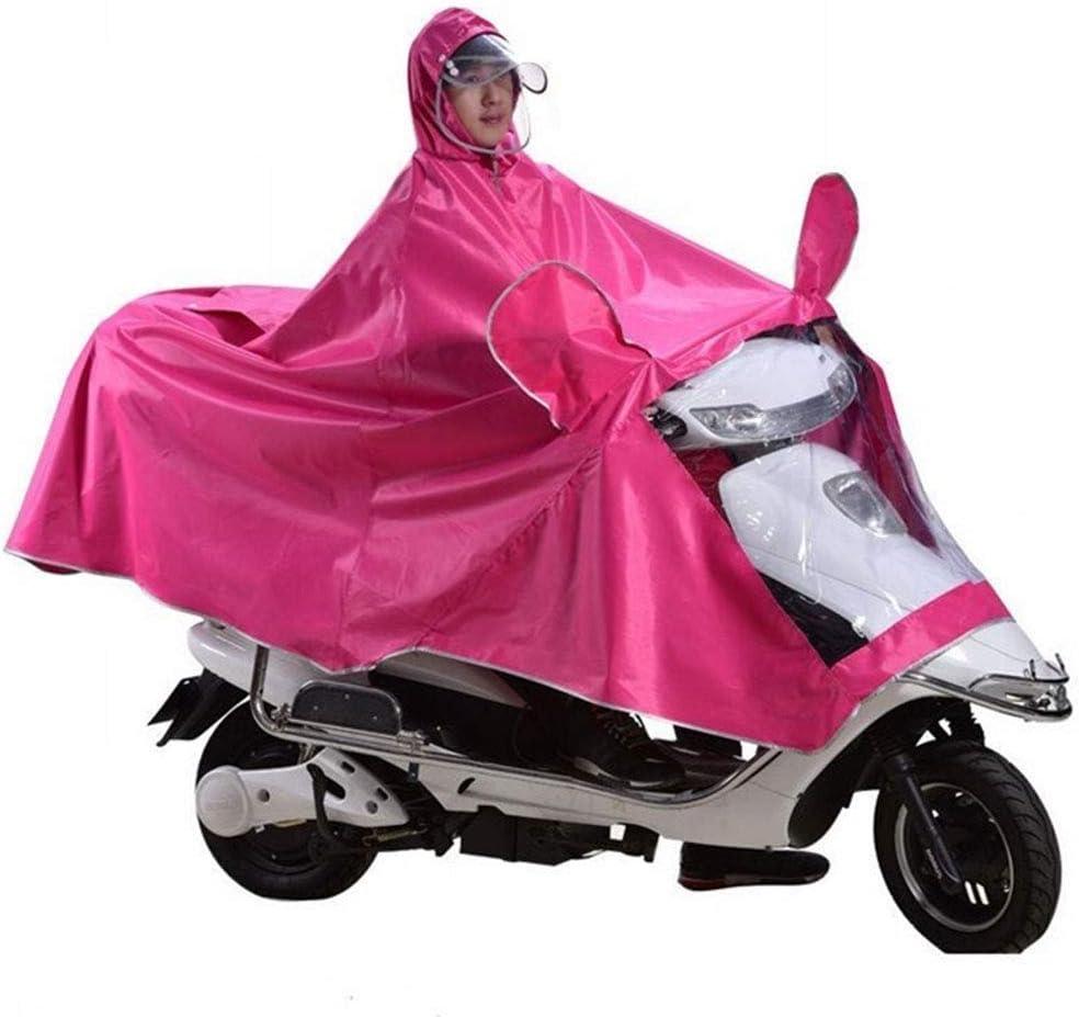 YWAWJ Impermeable a prueba de agua reutilizable del poncho impermeable del coche eléctrico de la motocicleta impermeable de la batería de coche del impermeable del impermeable del poncho individual Au