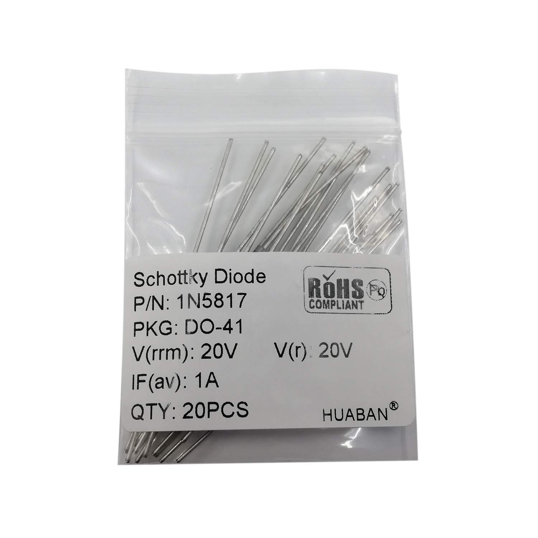 20PCS 1N4003 Rectifier Diode 1A 200V DO-41 Axial 4003 1 Amp 200 Volt DO-204AL