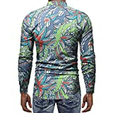 Dressin_Mens Clothes Clearance!Mens Fashion Printed Blouse Casual Long Sleeve Slim Shirts Tops