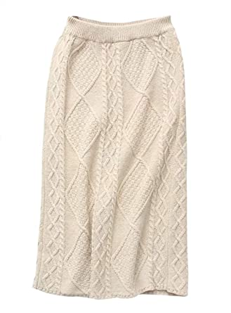 d6e1dfe05 Yimoon Women's Solid Elastic Waist Stretchy Sweater Knit Pencil Skirts with  Waist Belt (Beige, One Size) at Amazon Women's Clothing store: