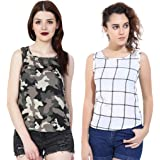 MALLORY WINSTON Sleeveless Women's top Pack of 2.