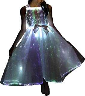 Glow In The Dark Dresses Light Up Prom Dresses Fiber Optic Ball