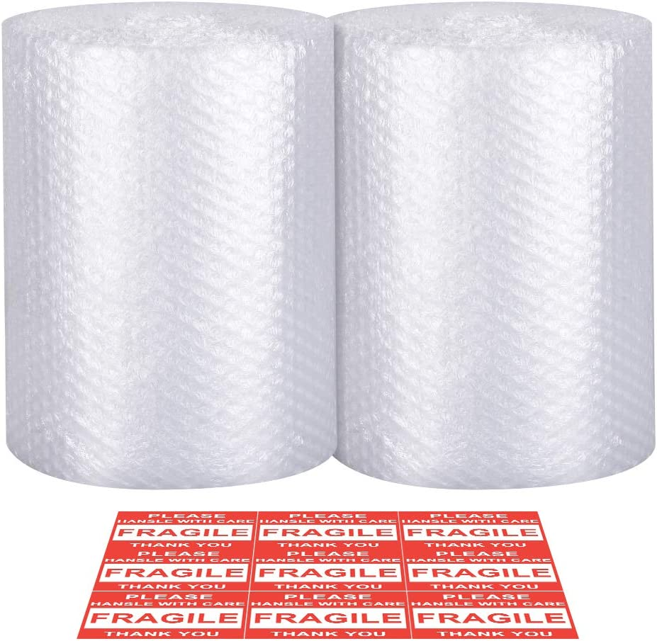 Bubble Cushioning Wrap - Bubble Cushioning Wrap for Moving with Perforated Every 12'', Easy to Tear, Small Bubble, Thicker & Durable for Packing, Delivering & Moving (12'' x72 Feet, 36'/Roll)