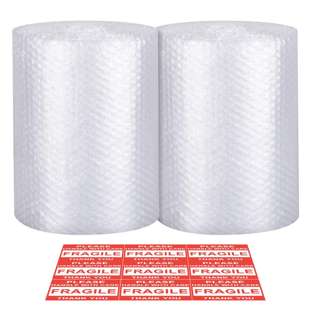 Bubble Cushioning Wrap - Bubble Cushioning Wrap for Moving with Perforated Every 12'', Easy to Tear, Small Bubble, Thicker & Durable for Packing, Delivering & Moving (Total 12'' x72 Feet, 36'/Roll) by EZLIVING
