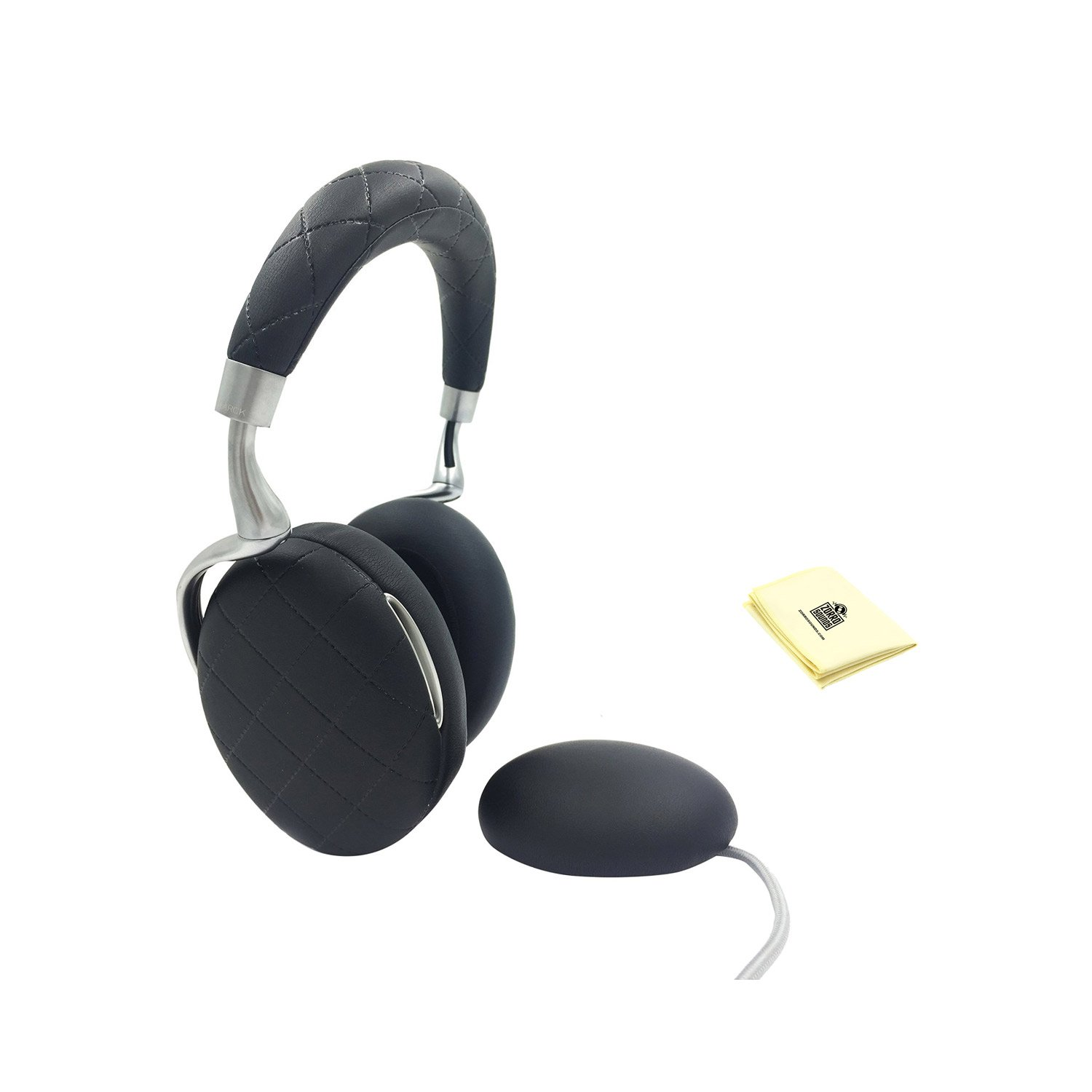 Parrot Zik 3 Wireless Stereo Headphones (includes a wireless charger) With Custom Designed Instrument Cloth (Black Overstitched)
