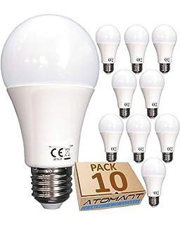 (LA) 10x Bombilla 7w A60 LED, blanco neutro (4500K), Equivalencia