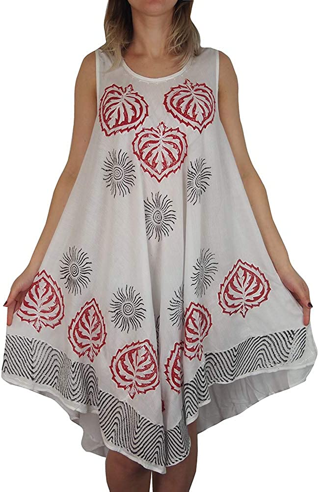 L Affair Ladies Umbrella Cut One Size Floral Print Sleeveless Beach Summer Maternity Dress One Size Cool White Summer At Amazon Women S Clothing Store