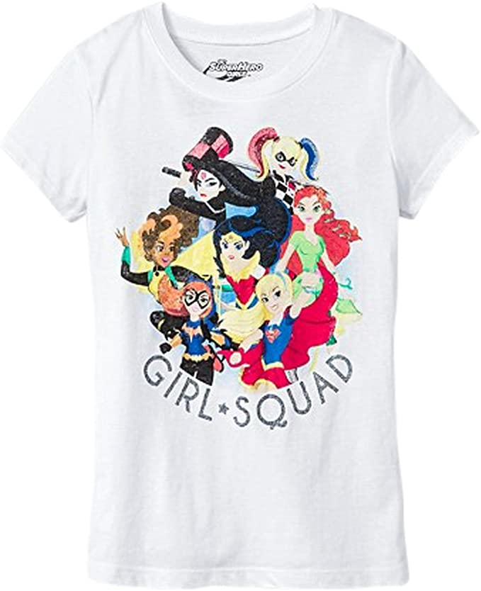 DC Super Hero Girls Wonder Woman Supergirl Batgirl T-Shirt Premium Enfant