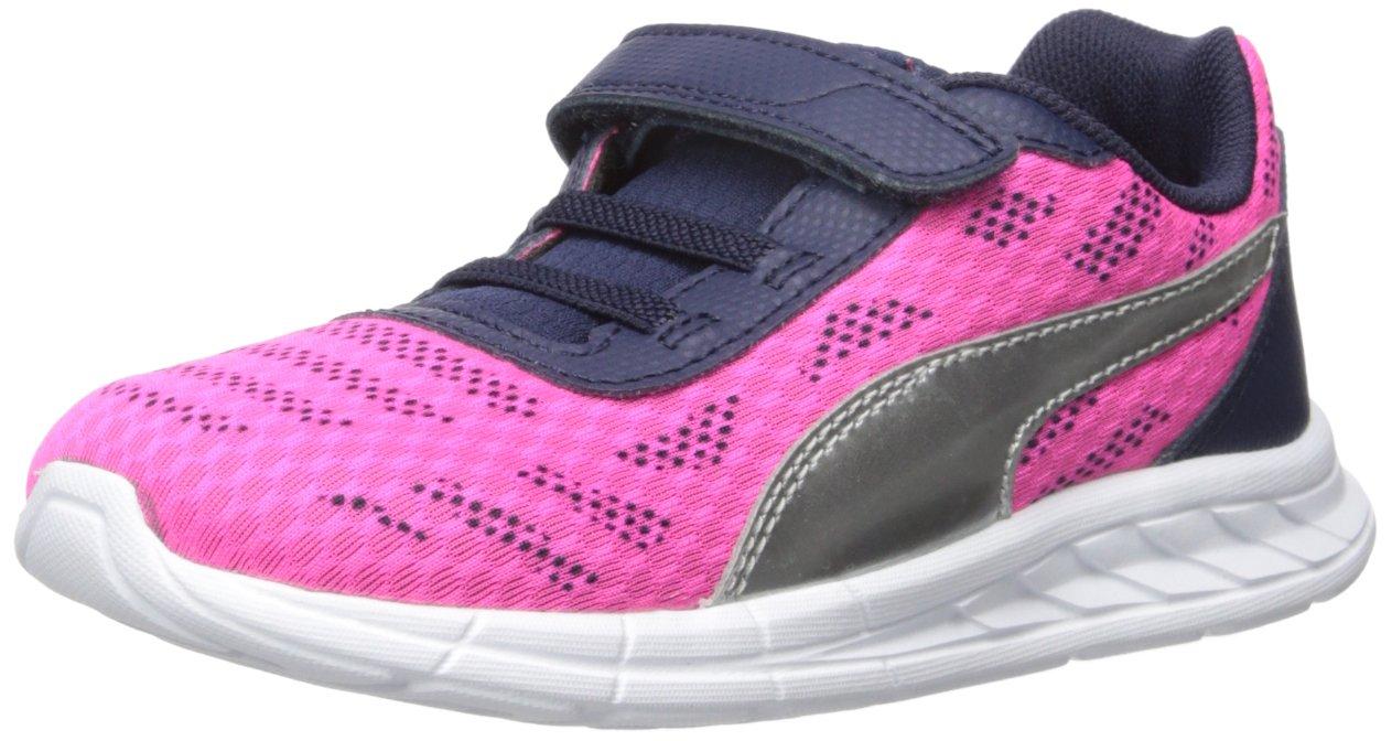 Puma Meteor V Kids Sneaker  3.5 US Big Kid|Pink/Puma Silver
