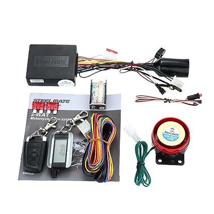 Steelmate 986XO 2 Vías Sistema de Alarma Motocicleta Arranque del Motor a Distancia Resistente a Agua ECU con Transmisor LCD Seguridad para Motos