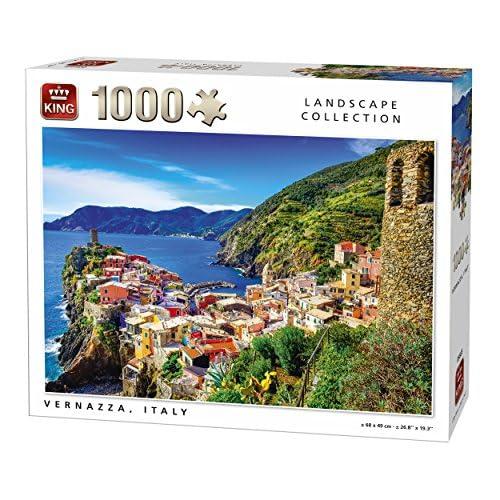 King 14389,1cm Vernazza Italie puzzle (lot de 1000)
