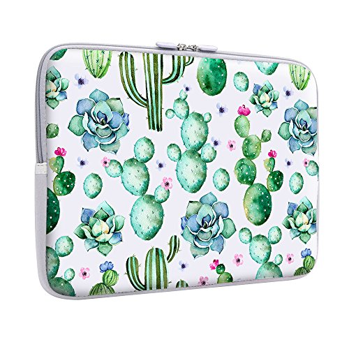 iCasso 13-Inch Laptop Sleeve Bag Stylish Soft Neoprene Cover for MacBook Air/Pro / Retina /2017 New Retina 13 Inch/Surface Pro 4&3 /Lenovo Yoga/HP/Chromebook- Cactus