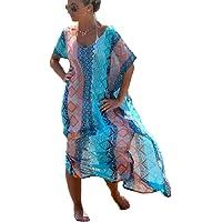 Bsubseach Mujer Traje de Baño Cubrir Bikini Vestido de Playa Cmisola y Pareos Cover up
