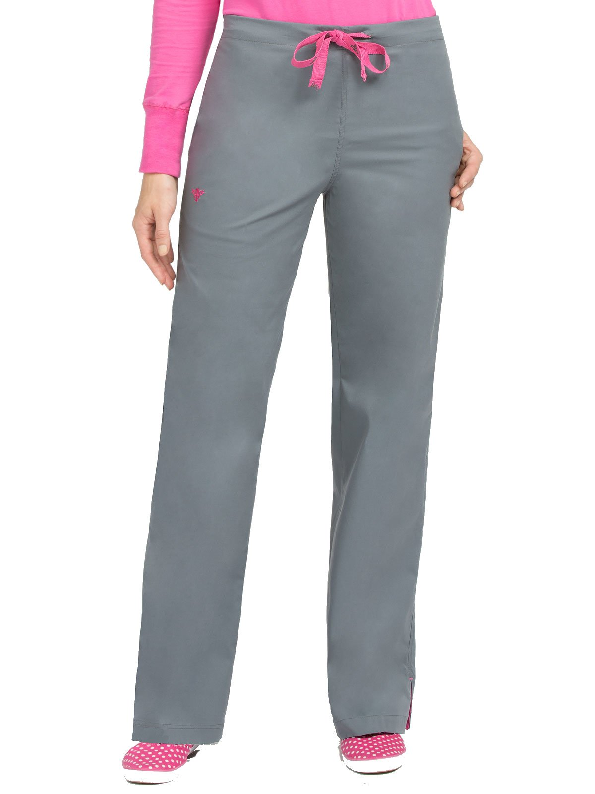 Med Couture Signature 8705 Women's Back Elastic Scrub Pant Steel/Cotton Candy ST