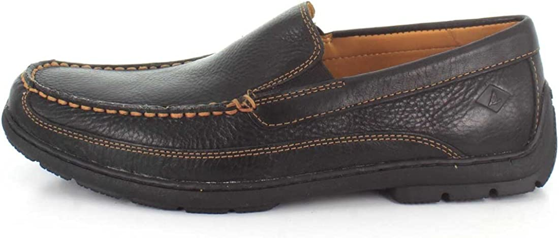 Sperry Top-Sider Mens Gold Loafer Twin Gore Black Shoe
