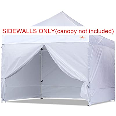 ABCCANOPY Sidewall Kit, Paint Booth Side Walls for 10x10 Feet Pop up Canopy, Beach Tent, Instant Shelter, 4 Walls ONLY, White : Garden & Outdoor