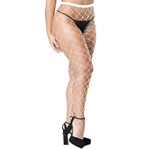 f74275af9e7 Image Unavailable. Image not available for. Color  Zerolove Plus Size  Stockings Womens Sexy Fishnet Pantyhose Stretchy Tights Socks
