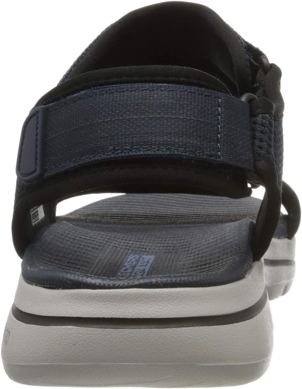 Skechers Men's Go Walk 5 Trainers Blue Navy Synthetic Black Trim Nvbk