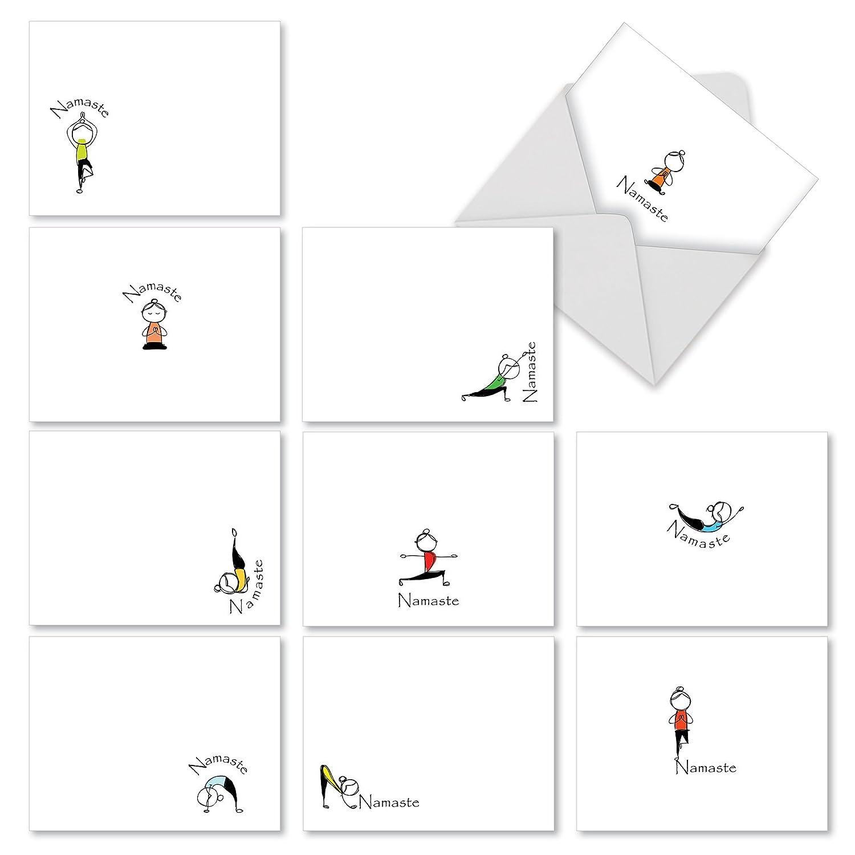 Amazon Namaste Quote Thank You Folded Note Cards 4 X 5