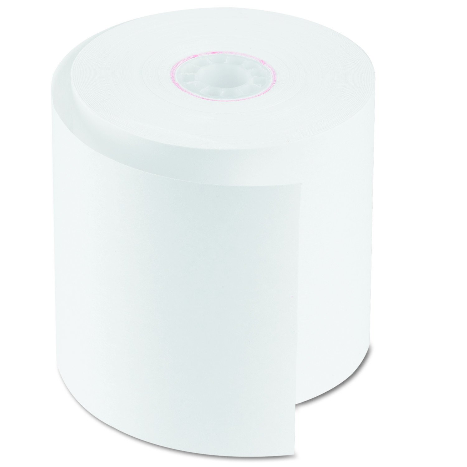 PM Company Item One Ply White Bond Rolls - 50 Rolls/Carton, 2 3/4 Inches x 150 Feet (07701)