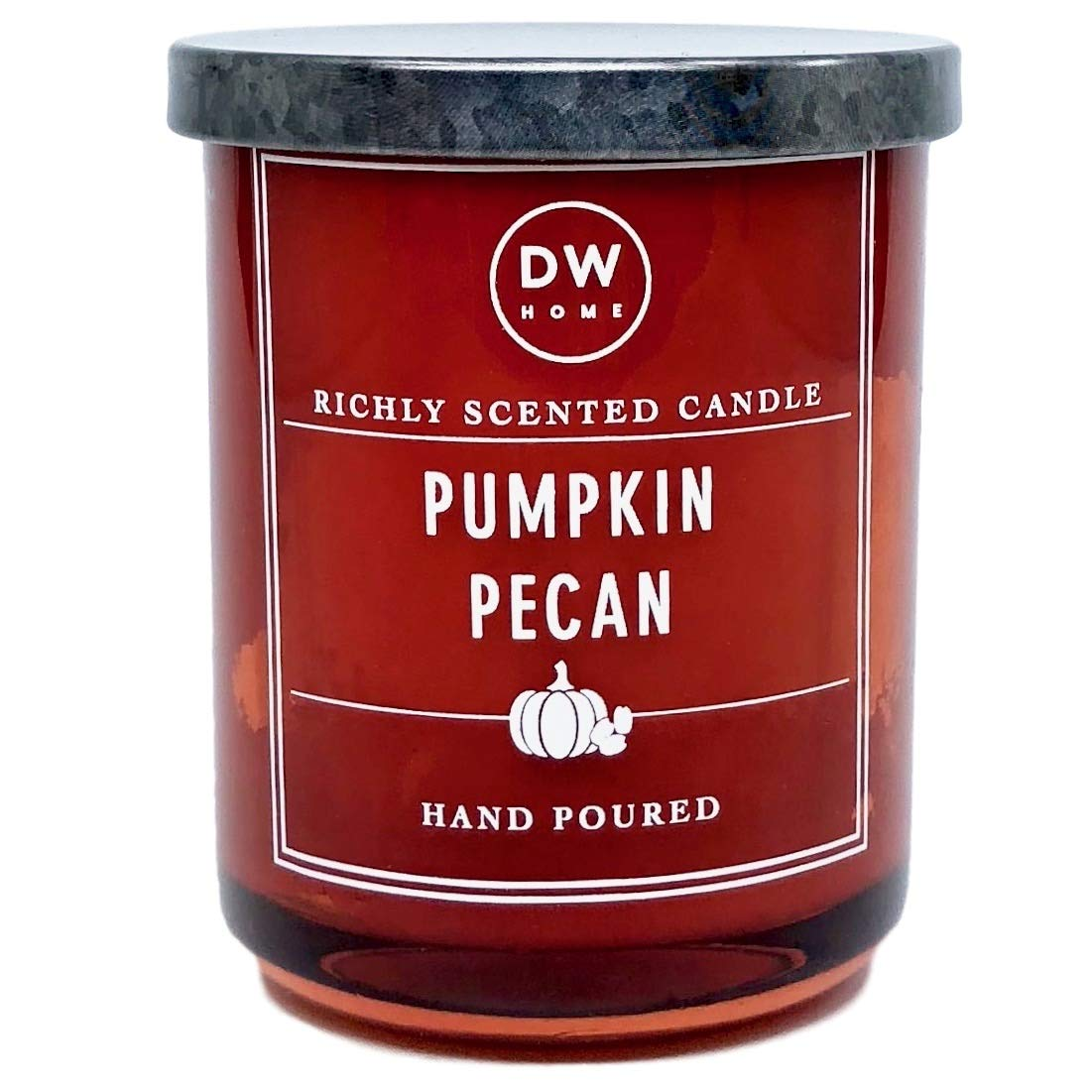 DW Home Small Pumpkin Pecan Scented Candle,Orange