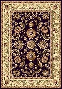 "Traditional Area Rug, Royal Treasure Black 7'8"" Round"