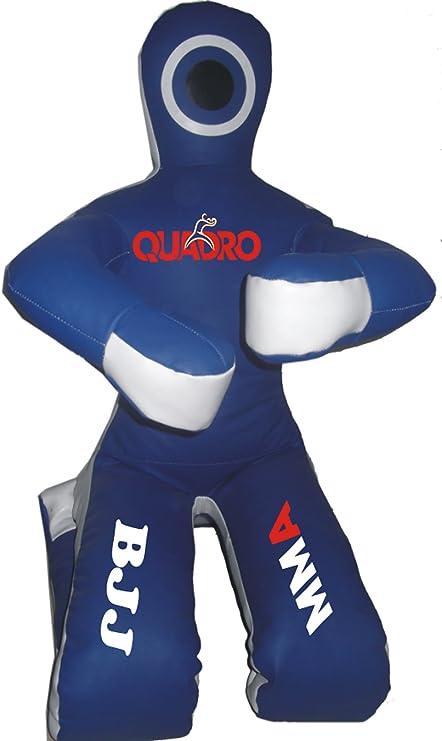 QUADRO-MMA Martial Arts Grappling Dummy Red Jiu Jitsu Punching Bag with Hanging Strap Unfilled